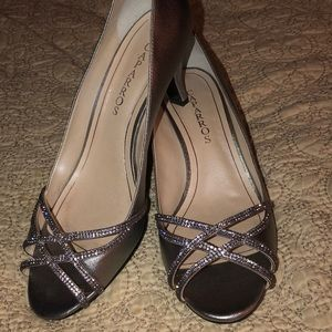 Caparros evening shoes, gently worn.
